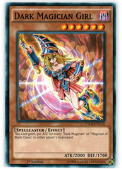 Dark Magician Girl - YGLD-ENC10 - Common - 1st Edition on Channel Fireball