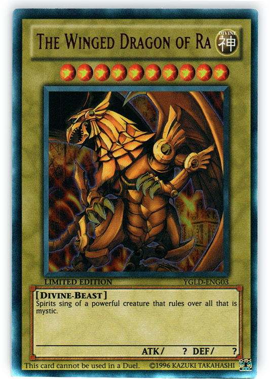 The Winged Dragon of Ra - YGLD-ENG03 - Ultra Rare - Limited Edition