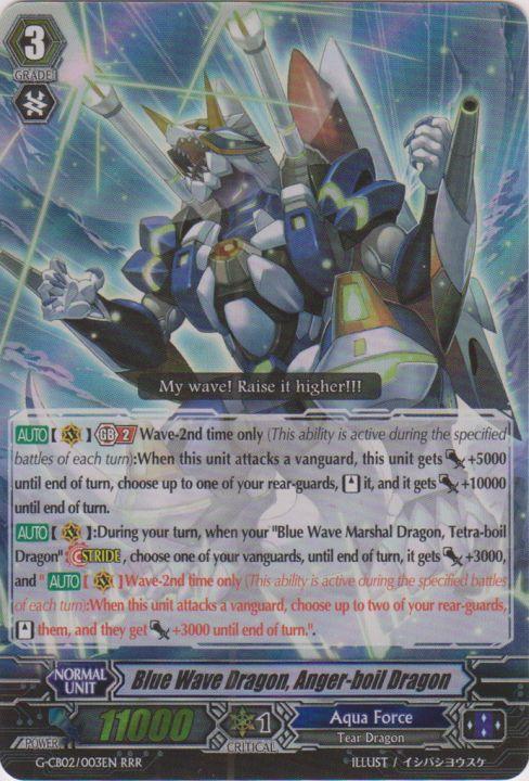 Blue Wave Dragon, Anger-boil Dragon - G-CB02/003EN - RRR