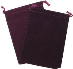 Chessex Velour Dice Bag Small Burgundy 4