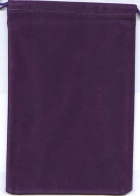 Chessex Velour Dice Bag Large Purple 5X7