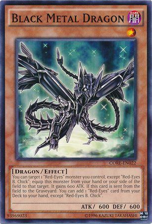 Black Metal Dragon - CORE-EN022 - Common - Unlimited Edition