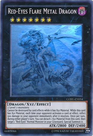 Red-Eyes Flare Metal Dragon - CORE-EN054 - Ghost Rare - Unlimited Edition