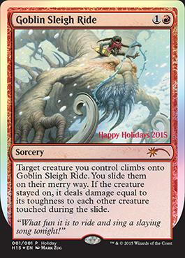 Goblin Sleigh Ride - 2015 Wizards Holiday Promo