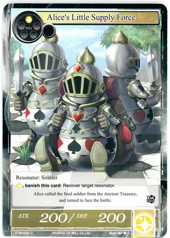 Alice's Little Supply Force - TTW-002 - C - 1st Edition (Foil)