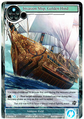 Invasion Ship, Golden Hind - TTW-041 - R - 1st Edition (Foil)