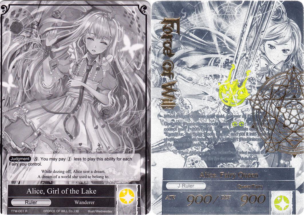 Alice, Girl of the Lake // Alice, Fairy Queen - TTW-001 // TTW-001J - UR - 1st Edition