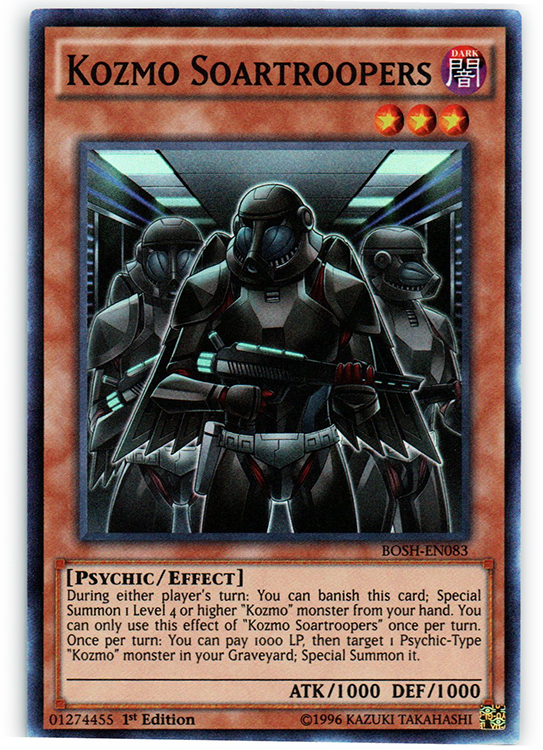 1st E Near Mint BOSH-EN060 - Common 3 x Karma of the Destruction Swordsman