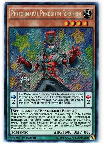 Performapal Pendulum Sorcerer - BOSH-EN090 - Secret Rare - 1st Edition