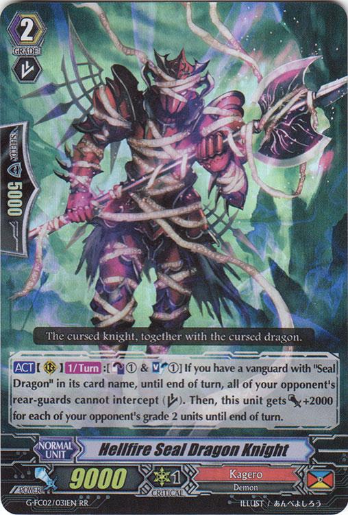 Hellfire Seal Dragon Knight - G-FC02/031EN - RR