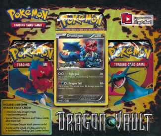 Pokemon cards Dragon Vault Blister Package with Druddigon