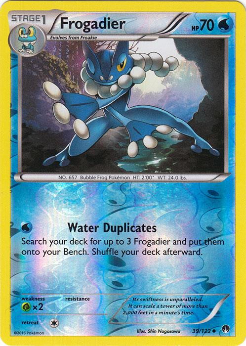frogadier 39 122 uncommon reverse holo pokemon card singles