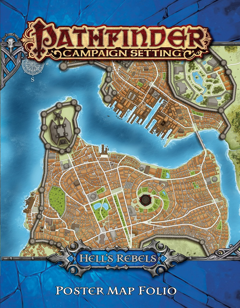 Pathfinder Campaign Setting: Hells Rebels Poster Map Folio