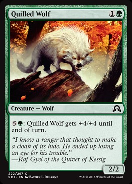 Quilled Wolf - Foil