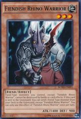 Fiendish Rhino Warrior - BOSH-EN091 - Rare - Unlimited Edition