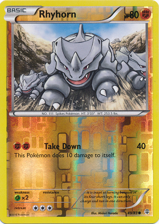 Rhyhorn - 49/83 - Common - Reverse Holo