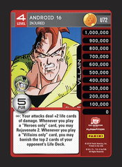 Android 16, Injured - U072 - Foil