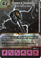 Hammer of Thunderbolts - Epic Magical Object (Die & Card Combo)