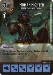 Human Fighter - Lesser Emerald Enclave (Die & Card Combo)