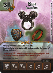 Ring - Lesser Gear (Die & Card Combo)