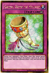 Grand Horn of Heaven - PGL3-EN040 - Gold Secret Rare - 1st Edition