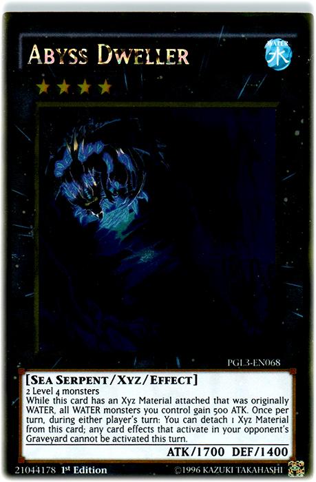 Abyss Dweller - PGL3-EN068 - Gold Rare - 1st Edition