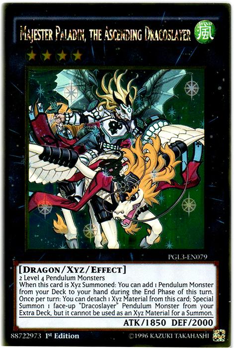 Majester Paladin, the Ascending Dracoslayer - PGL3-EN079 - Gold Rare - 1st Edition
