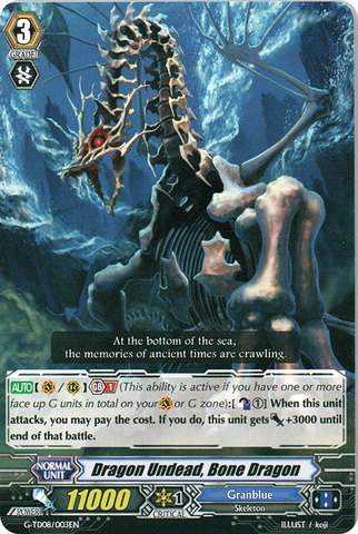 Dragon Undead, Bone Dragon - G-TD08/003EN