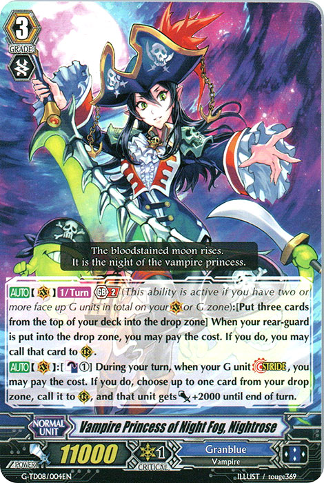 Vampire Princess of Night Fog, Nightrose - G-TD08/004EN
