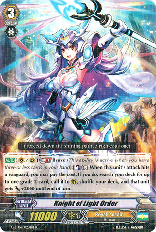 Knight of Light Order - G-BT06/023EN - R
