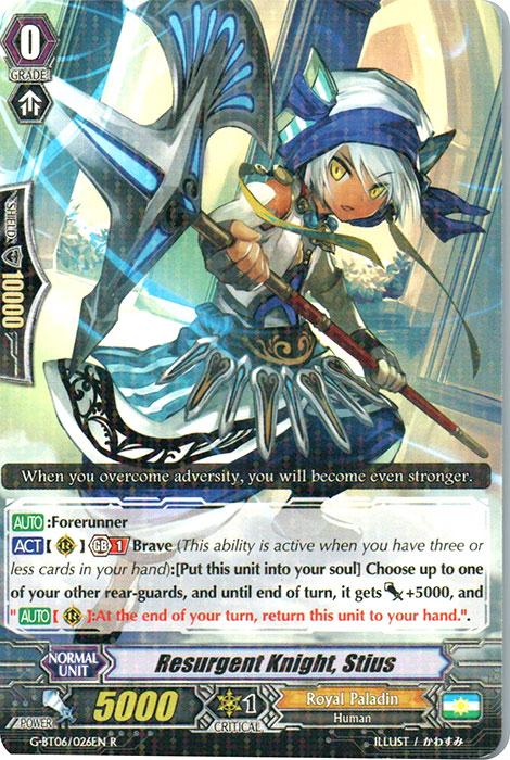 Resurgent Knight, Stius - G-BT06/026EN - R