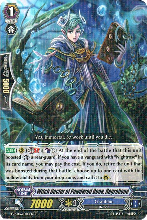 Witch Doctor of the Powdered Bone, Negrobone - G-BT06/040EN - R