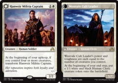Hanweir Militia Captain // Westvale Cult Leader - Foil