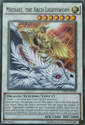 Michael, the Arch-Lightsworn - OP01-EN020 - Common - Unlimited Edition