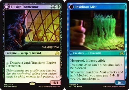Elusive Tormentor // Insidious Mist - Foil - Prerelease Promo
