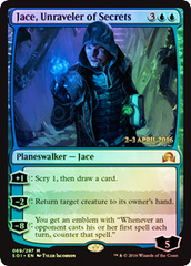 Jace, Unraveler of Secrets (Shadows over Innistrad Prerelease)
