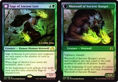 Sage of Ancient Lore // Werewolf of Ancient Hunger (Shadows over Innistrad Prerelease Foil)