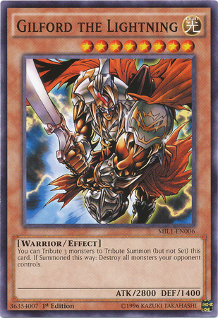 Gilford the Lightning - MIL1-EN006 - Common - 1st Edition