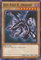 Red-Eyes B. Dragon - MIL1-EN027 - Common - 1st Edition