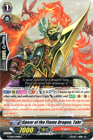 Spear of the Flame Dragon, Tahr - G-LD02/008EN - C