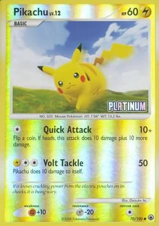 Pikachu - 70/100 - Reverse Holo - BK Promo