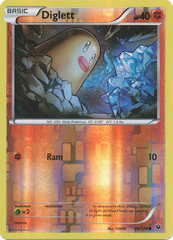 Diglett - 36/124 - Common - Reverse Holo