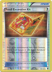 Fossil Excavation Kit - 101/124 - Uncommon - Reverse Holo