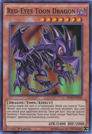 Red-Eyes Toon Dragon - SHVI-EN036 - Super Rare - 1st Edition