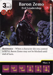 Baron Zemo - Evil Leadership (Card Only)