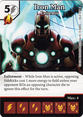 Iron Man - Extremis (Die & Card Combo)