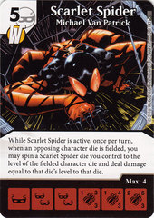 Scarlet Spider - Michael Van Patrick (Die & Card Combo)