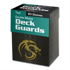 BCW - Deck Guard - Matte - 80 boxed - Teal