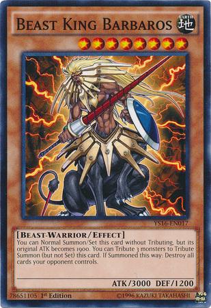 Beast King Barbaros - YS16-EN017 - Common - 1st Edition