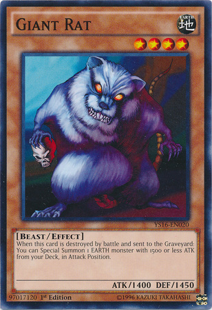 Giant Rat - YS16-EN020 - Common - 1st Edition